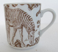 "1960's Wild Habitat ""Zebra"" Collectible Porcelain Coffee Mug, Exclusive ... - $14.99"
