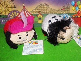 "New! Disney Peter Pan Tsum Tsum Cruella Deville Captain Hook 3.5"" Lot Co... - $3.99"