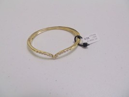 "Charter Club 6"" gold toned simulated diamond V bracelet  G214 - $11.51"
