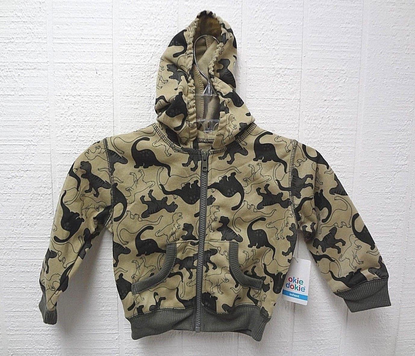 Okie Dokie Lightweight Boys Fleece Jacket 2T Blue Black