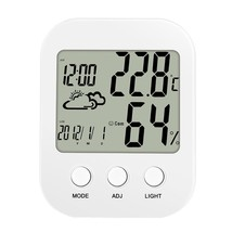 Multi-functional Alarm Clock with Time Date Temperature Humidity Display - £18.18 GBP