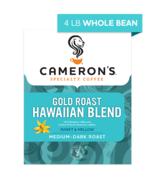 CAMERON'S WHOLE BEAN GOLD ROAST HAWAIIAN BLEND 4LB PACKAGE - $44.46