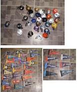 NFL Football Lot Mini Pennants Mini Helmets Jets Bears Eagles Vikings Ca... - $34.99