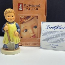 Goebel MJ Hummel club figurine germany box coa 1222 garden treasures hum... - $54.45