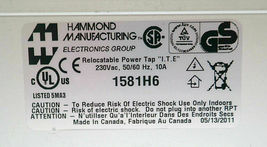 "HAMMOND 1581H6 IEC RELOCATABLE POWER TAP ""I.T.E"" 230V, 50/60 Hz, 10A, 230VAC image 4"