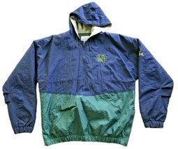 Vintage Notre Dame Fighting Irish Men's Pullover Bomber Jacket Men's XL NCAA - $29.70