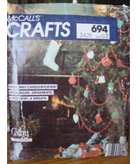 Christmas Sewing Pattern 694 Stocking, Ornaments, Wreath, Tree Skirt UNCUT - $4.99
