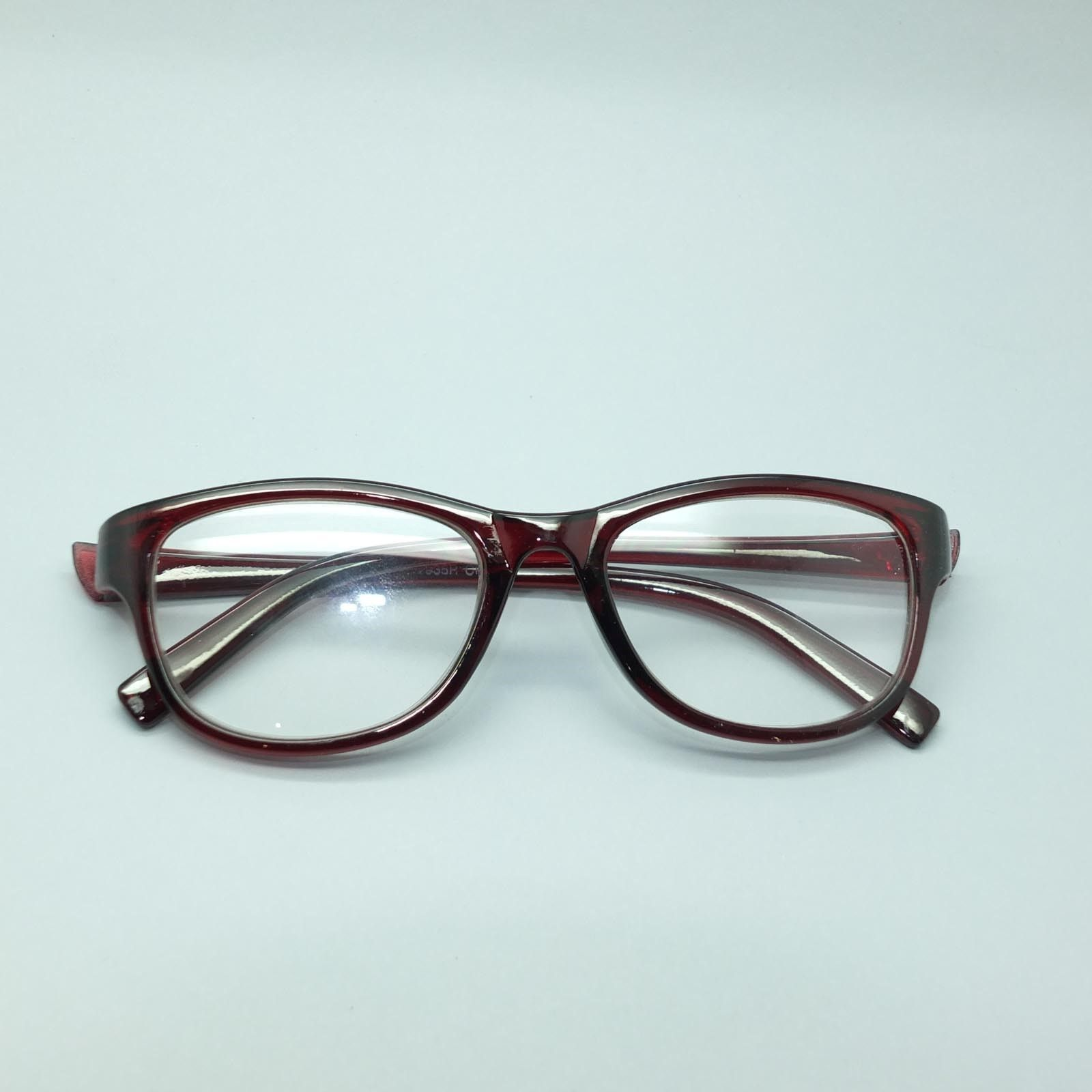 Reading Glasses Traditional Retro Office Frame Burgundy Red Brown +1.50 Lens
