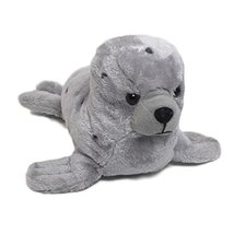 "Wishpets Stuffed Animal - Soft Plush Toy for Kids - 15.5"" Grey Spotted Seal - $8.00"