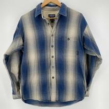 Patagonia Long Sleeve Button Shirt Men's M Blue Vintage 1990's Organic C... - $27.84