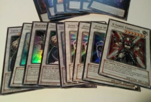 Lot of 26 Yu-gi-oh Trading Cards Battle Game Black White Purple Color Cards