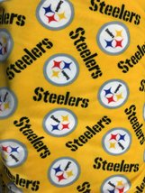 NFL Pittsburgh Steelers Toss By Fabric Traditions Fleece Printed Fabric - By Yar - $24.99