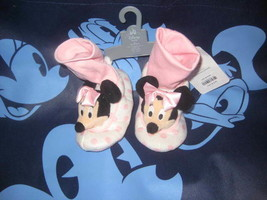 Disney Store MINNIE MOUSE Baby 18 to 24 Months Slip On Baby Shoes New wi... - $14.44