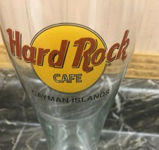 "Hard Rock Cafe Collectible 8.5"" Pilsner Beer Glass Cayman Islands - $19.75"