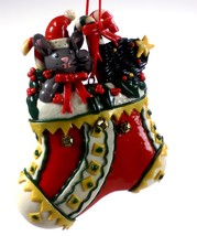 Dough Style Christmas Ornament Mouse in Christmas Stocking #54 - $5.95