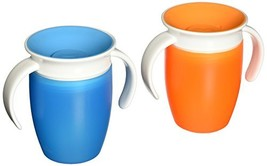 Munchkin Miracle 360 Trainer Cup, Orange/Blue, 7 Ounce, 2 Count - $16.38