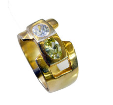 classy Multi CZ Gold Plated Multi Ring Natural wholesales US gift - $22.99
