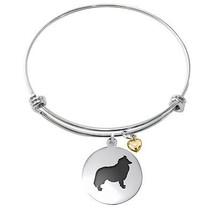 Collie Dog Bracelet   Adjustable Bangle Bracelet   Dog Jewelry - $29.99