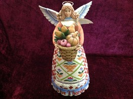 Very Nice Jim Shore Heartwood Creek Give Thanks Wooden Angel Figurine