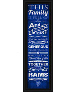 Los Angeles Rams 24 x 8 Family Cheer Framed Print - $39.95