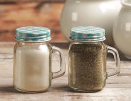 Circleware Mason Jar Salt and Pepper Shakers with Glass Handles and Meta... - $9.85