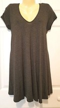ROLLA COSTER Size Large L Gray A-line T-shirt Dress Loose Fit w/stretch EUC - $9.85
