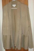 Women Liz Claiborne Gold/Tan Cardigan Sweater Top - $23.00