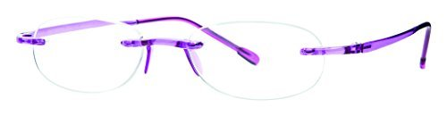 Scojo New York Gels Amethyst Reading Glasses +2.25 Magnification Power