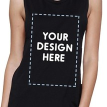 Custom Personalized Womens Black Muscle Top image 2