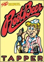 Midway Arcade Game Root Beer Tapper Classic Name Logo Refrigerator Magne... - $3.99