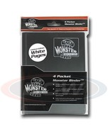 4-POCKET MONSTER PROTECTOR BINDER - BLACK WITH WHITE PAGES - $18.99
