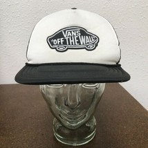 Vans Off The Wall Black White Snap Back Trucker Hat Ball Cap - $14.84