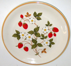 6 Sheffield Strawberries N Cream Dinner Plates Strawberry Japan Blossoms Vintage - $46.27