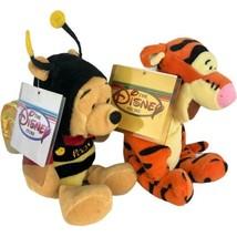 "Disney Store Eeyore Plush Mini & Winnie the Pooh in Bee Costume Lot of 2 6"" - $17.81"