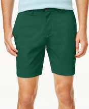 "NEW MENS TOMMY HILFIGER FLAT FRONT 9"" GREEN CHINO SHORTS 38 - $24.74"