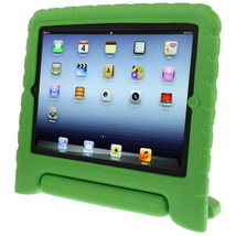 For iPad 4/3/2 Green Material Drop Resistance Protective Case with Holder - $18.59
