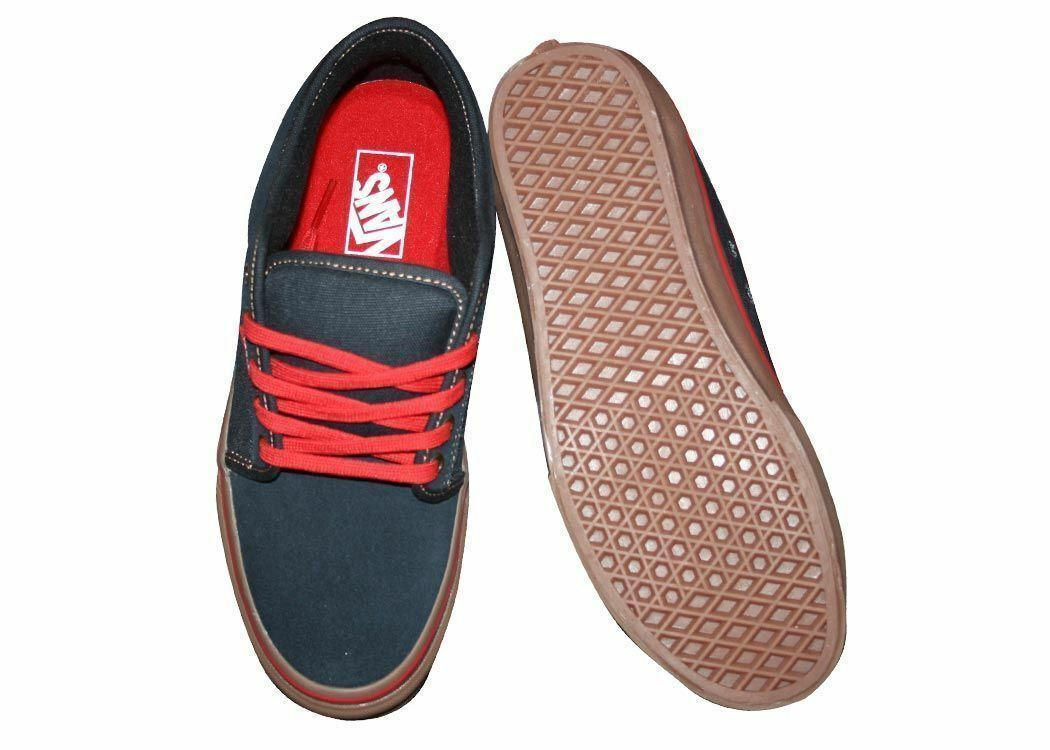 Vans Chukka Low Navy/Gum Classic Skate Shoes MEN'S 7 WOMEN'S 8.5