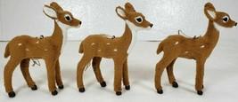 Fuzzy Realistic Deer Christmas Ornaments Figures - $17.99