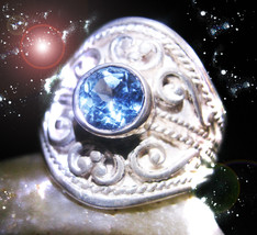 DISCOUNTED HAUNTED RING HALLOWEEN ALEXANDRIA'S 7 MYSTERIOUS POWERS OOAK ... - $187.77