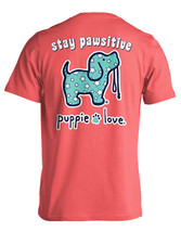Puppie Love Rescue Dog Men Women Short Sleeve Graphic T-Shirt, Pawsitive Pup