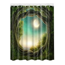 180x180cm Landscape Series Digital Printing Polyester Waterproof Shower Curtain  - $29.25