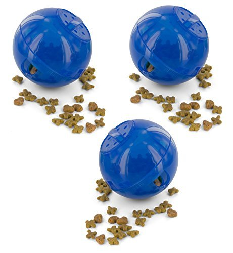 Primary image for Petsafe SlimCat Meal Dispensing Cat Toy, Blue (3 Pack)