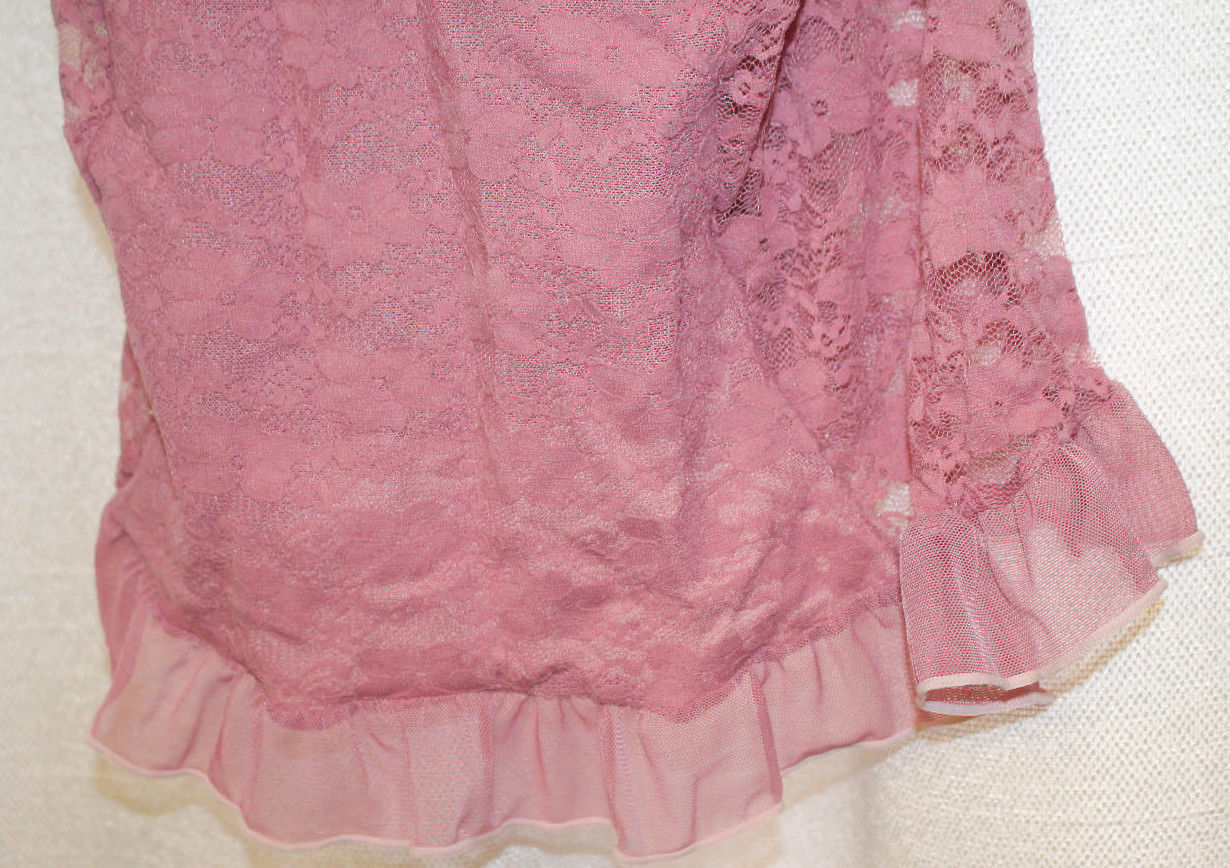 NEW WOMENS PLUS SIZE 3X JESSICA SIMPSON  LACE & RUFFLE HEM  LINGERIE BABYDOLL