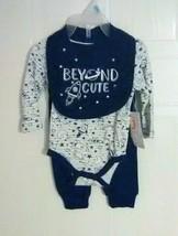 Swiggles Infant Boy's Bib, One-Piece & Pants Set - BEYOND CUTE - Size: 0... - $9.67