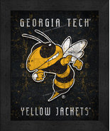 "Georgia Tech Yellow Jackets ""Retro College Logo Map"" 13x16 Framed Print  - $39.95"