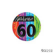 8-Count Round Paper Dessert Plates, Celebrate 60, Milestone Celebrations - $2.61