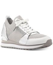 Michael Kors MK Women's Billie Knit Trainer Fabric Sneakers Shoes Aluminum - $2.479,97 MXN