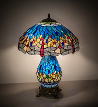 "25""High Tiffany Hanginghead  Dragonfly Table Lamp - £338.13 GBP"