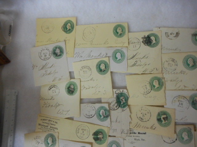 ON PIECES Collection/Lot Vintage Early US  WASHINGTON Territory Cancels Etc RARE