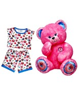 Build a Bear Sprinkled Donut Pink Fuchsia Teddy... - $116.95